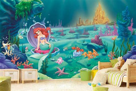 mermaid wallpaper bedroom little mermaid wall mural ariel wallpaper wall d 233 cor