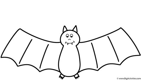 bat coloring page halloween