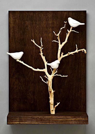 birds  trees small  chris stiles ceramic wood