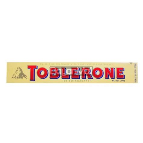 Toblerone Chocolate Milk 200 G toblerone swiss milk chocolate with honey and almond