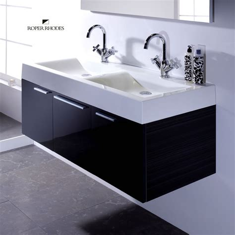 double basin bathroom sink roper rhodes envy 1200mm wall hung unit with double basin