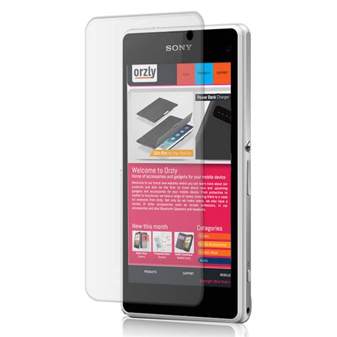 Sony Z1 Screen Protector Tempered Glass orzly tempered glass screen protector sony xperia z1 compact