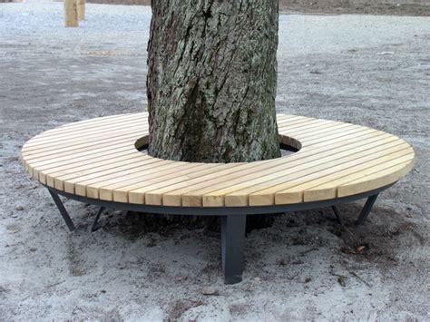 seat bank kontakt metall werk z 252 rich ag rundbank baumbank mit eichenholz
