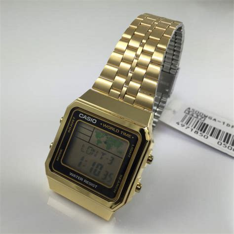 Guess Collection Combi Steel Wga s gold tone casio world time stainless steel a500wga 1 ebay