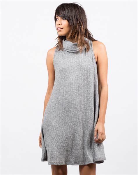 turtleneck swing dress turtleneck swing dress grey dress a line dress 2020ave