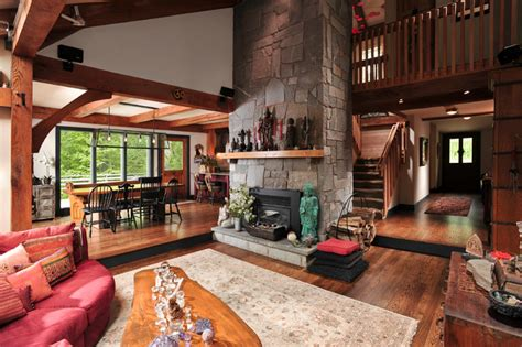rustic livingroom living room rustic living room chicago by fredman