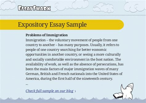 Expository Essay Exle by Expository Essay Sle On Immigration And Persuasive Essay Sle On