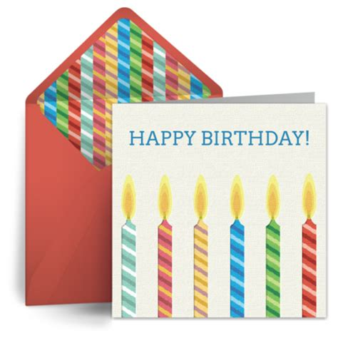 Punchbowl Gift Cards - birthday candles for him free birthday card for him happy birthday ecard greeting