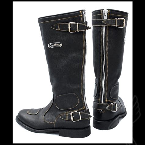biker riding boots vintage motorcycle boots by gasolina