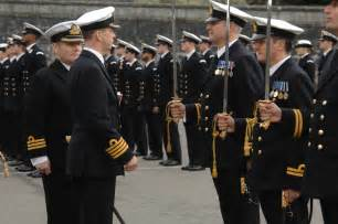 parade for officers promoted from the ranks royal navy