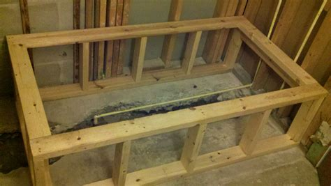 bathtub framing build bathtub frame pardon our sawdust