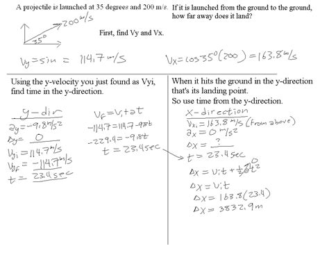 Vectors And Projectiles Worksheet Answers by Projectile Motion Worksheet With Answers Worksheets