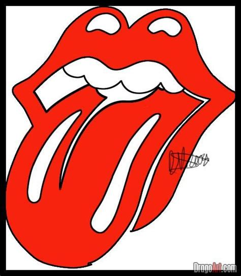 tutorial logo pop how to draw the rolling stones lips and tongue step by