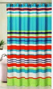 bold stripes fabric shower curtain multi color 70 quot x