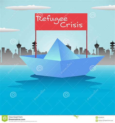 refugee boat clipart refugee boat stock vector image 62598226