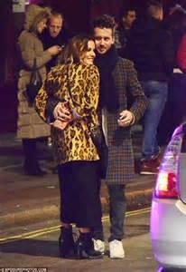 Dress Caroline Isn caroline flack wraps up in glam leopard print coat with new beau blue logan in daily