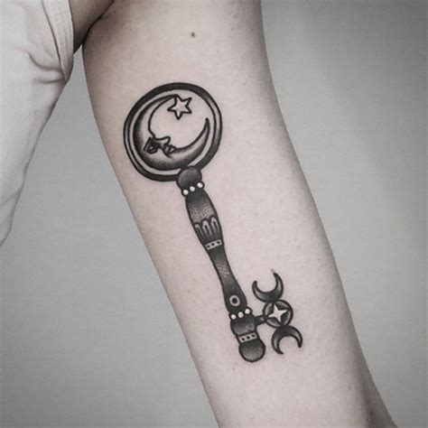 key tattoo design 100 mysterious key designs for your lock