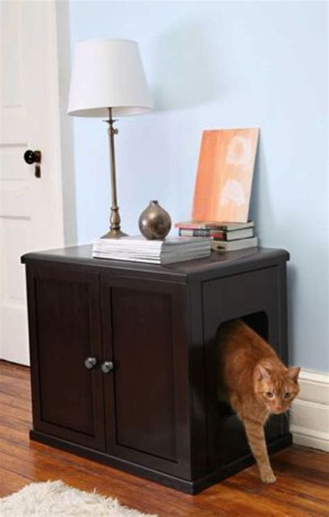 Litter Box In Bedroom by Cat Litter Box Wood Cabinet