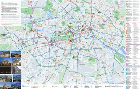tourist map germany large scale tourist map of berlin city berlin large scale