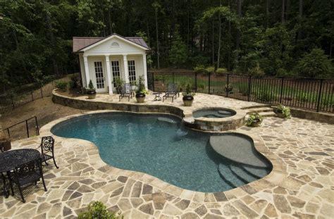 Backyard Builder Atlanta Pool Builder Freeform In Ground Swimming Pool Photos