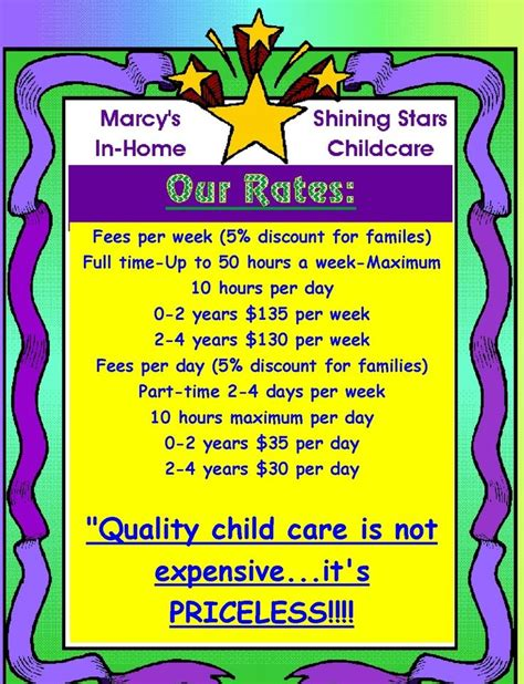 day care prices 89 best images about my future daycare center on day care infants and