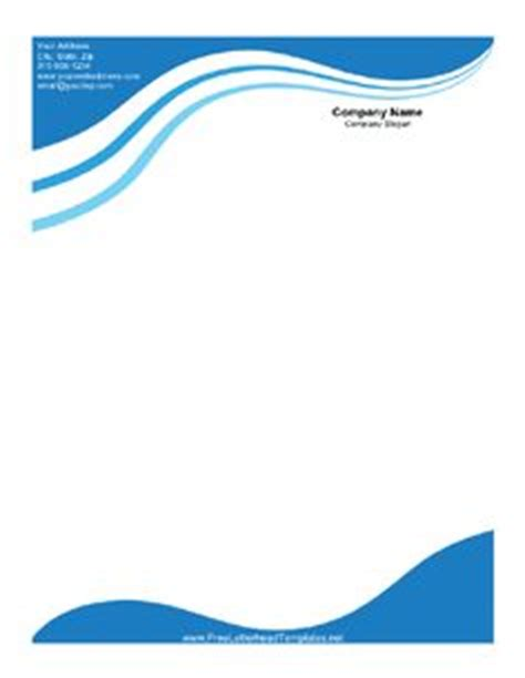 plantilla business letterhead with blue waves 1000 images about business letterheads on