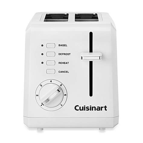 bed bath beyond toaster cuisinart 174 white compact cool touch 2 slice toaster bed