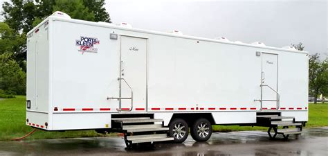Bathroom Trailer Rental by Clean Indianapolis Portable Restrooms Trailers Showers