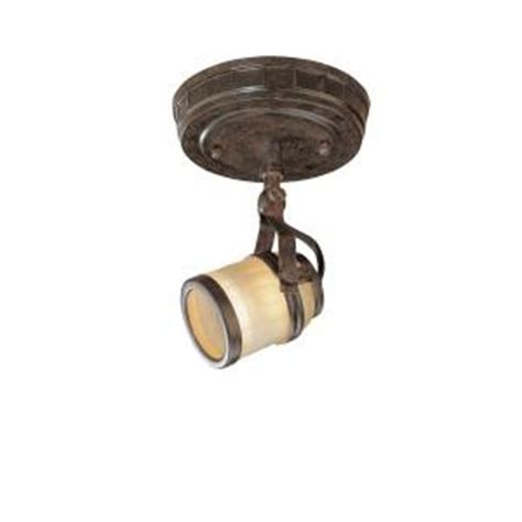 hton bay 1 light iron oxide ceiling fixture ec9075io