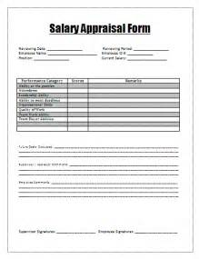 salary review form template salary appraisal form a to z free printable sle forms