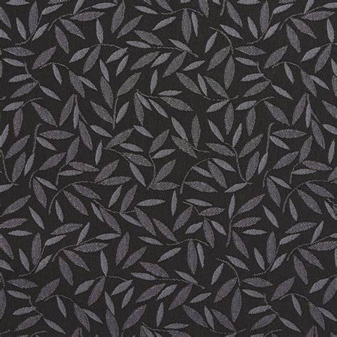 Black And Grey Upholstery Fabric by Charcoal Black And Gray Minimalist Foliage