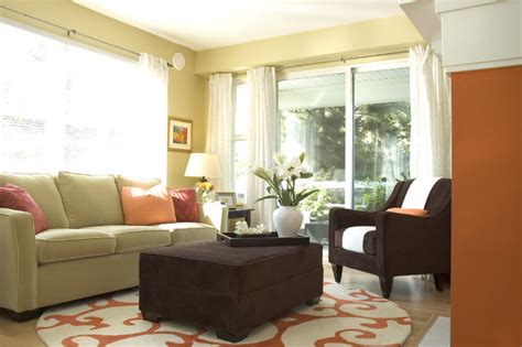 orange green and brown living room orange and green living room