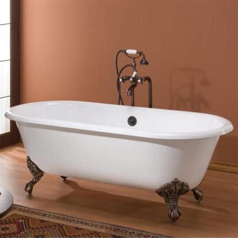 traditional bathtubs cheviot regal 60 in classic cast iron clawfoot tub
