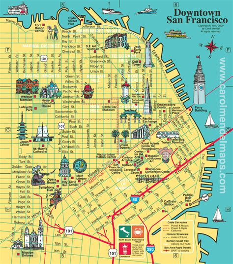 map of san francisco san francisco city tourist maps pictures california map