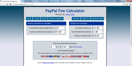 ebay paypal fee calculator online paypal fee calculator