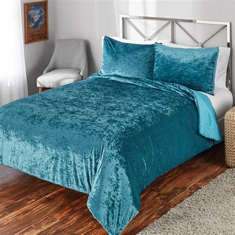 mainstays crushed velvet comforter bedding mini sets