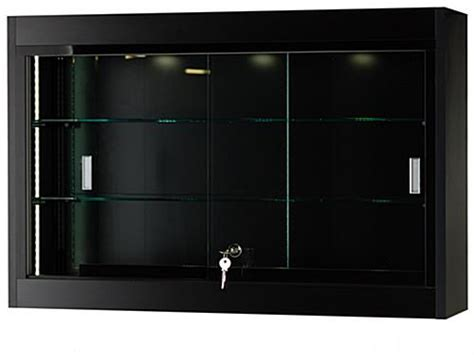 wall mounted glass display cabinet wall mounted sliding doors glass display shelves black
