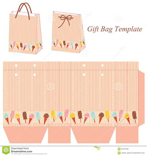 Gift Bag Cards For Baby Template by White Paper Fold Vector