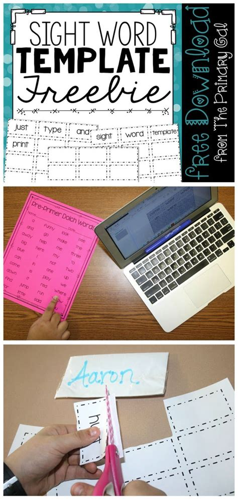 sight word template word cards 17 best images about kindergarten kiddos on