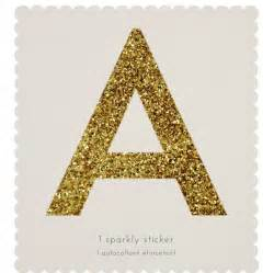 gold sparkle letter stickers by letteroom