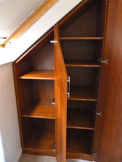 Diy Fitted Bedroom Wardrobes by Sloping Cabinets For An Attic Conversion Diy Wardrobes