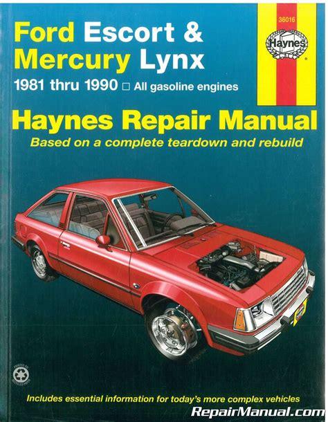 service and repair manuals 1987 mercury lynx parental controls haynes ford escort mercury lynx 1981 1990 auto repair manual