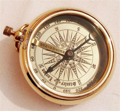 the brass compass vintage maritime pocket style stanley brass