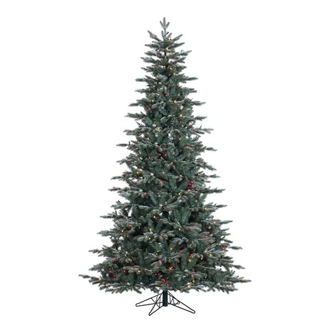 vickerman 7 5 prelit crystal frost balsam fir artificial