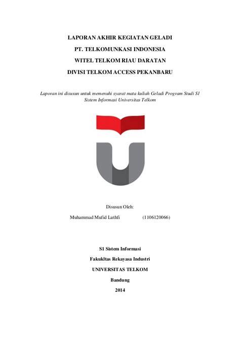 email telkom university laporan geladi telkom university muhammad mufid luthfi