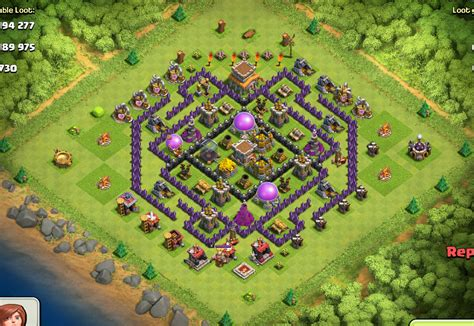 layout coc th8 base defense th8 mortars car interior design