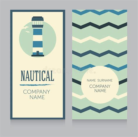 Nautical Business Card Template by Exelent Business Cards Gift Business Card Ideas