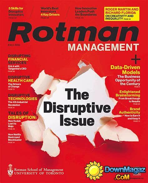 Rotman Mba Magazine by Rotman Management Fall 2016 187 Pdf Magazines