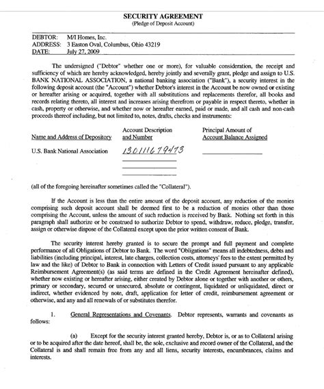 Security Agreement Letter Of Credit security agreement