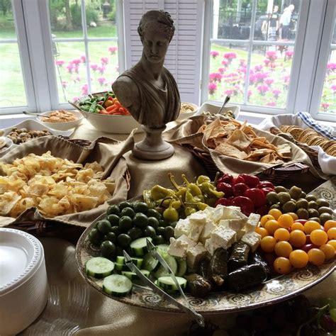 party themes greek greek theme party appetizer table de oro pinterest